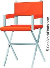 director silla, icono, estilo, caricatura