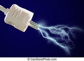 discharge., eléctrico