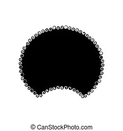 disco, fondo., plantilla, isolated., pelo afro, peluca, norteamericano, blanco, africano, peinado tradicional