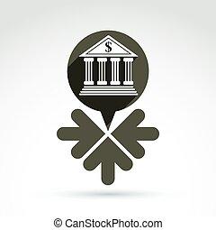 discurso, burbujas, renta, concept., vector, fuentes, w, símbolo, banca
