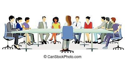 discusión, group.eps, reunión