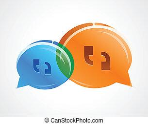 Discusión habla burbujas