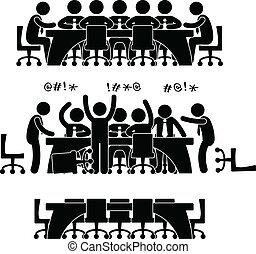 discusión, reunión, empresa / negocio, icono