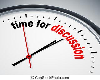 discusión, tiempo