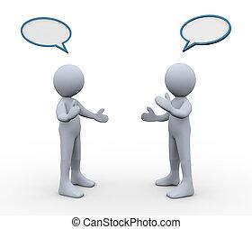 Discutimos tres personas