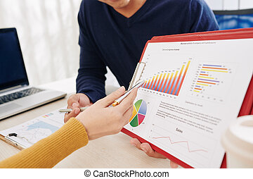 discutir, actividad, directores, empresa / negocio