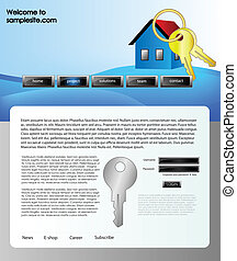 Diseñación de páginas web de la plantilla 61