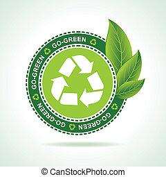 Diseñador de reciclado ecológico
