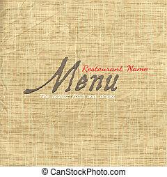 Diseñador de tarjetas de menu en papel antiguo