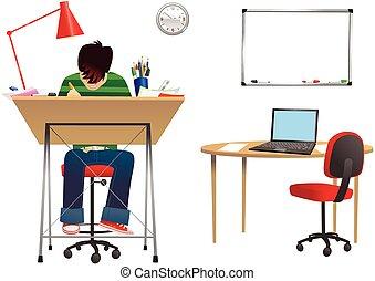 Diseñador en el escritorio