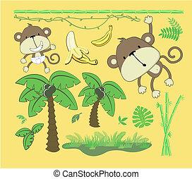 Diseñadores de caricaturas de la jungla