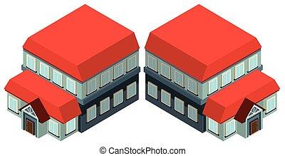 Diseño 3D para un gran edificio