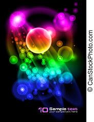 Diseño abstracto del vector. Bubbles