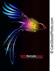 Diseño abstracto del vector. Pájaro.