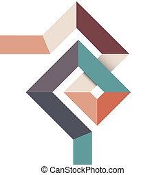 Diseño abstracto geométrico mínimo