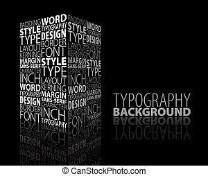 diseño abstracto, tipografía, plano de fondo
