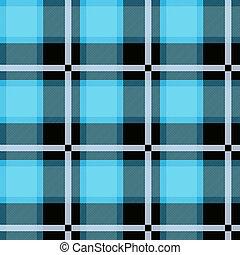 Diseño azul tártano sin costura. Escocesa textual