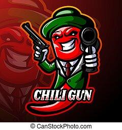 diseño, chile, logotipo, mascota, esport