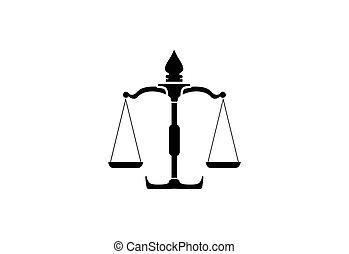 diseño, consejería jurídica, logotipo, plantilla