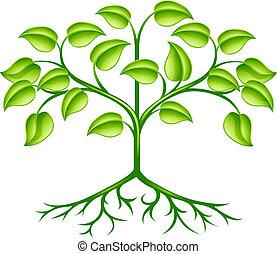 Diseño de árbol estilizado