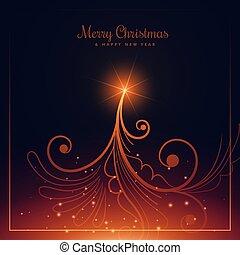 Diseño de árboles de Navidad al estilo floral
