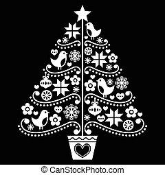 Diseño de árboles de Navidad, estilo popular