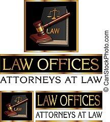 Diseño de abogados con martillo