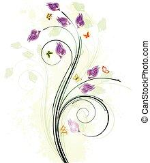 Diseño de antecedentes florales