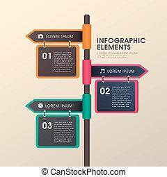 Diseño de anuncios de posta de flecha