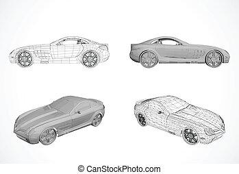 Diseño de autos en ilustración vectora