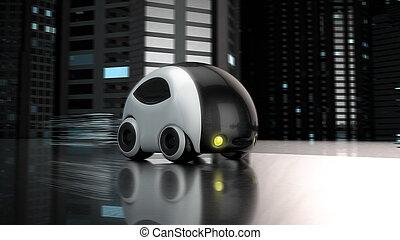 Diseño de autos futuristas: Ilustración 3D
