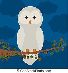 Diseño de aves, ilustración de vectores.