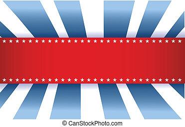 Diseño de banderas americanas, blanco rojo y azul