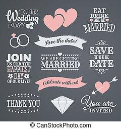 Diseño de boda de pizarra