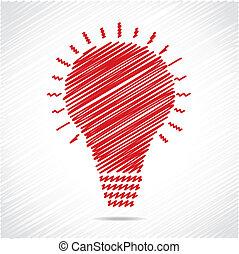Diseño de bombillas rojas