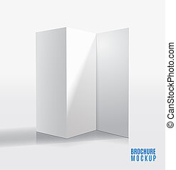 Diseño de Brochure aislado en el modelo 3D gris.