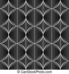Diseño de círculos de monocromo sin costura