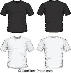 Diseño de camisa blanco y negro