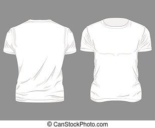 Diseño de camisetas masculinas blancas