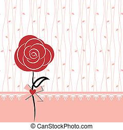 Diseño de cartas con rosa roja