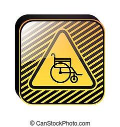 Diseño de carteles con silla de ruedas