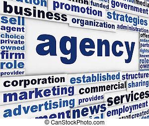 Diseño de carteles de la Agencia