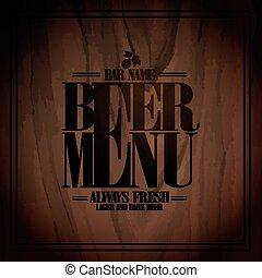 Diseño de cerveza para el bar
