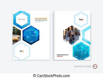 Diseño de cobertura abstracto, folleto de negocios