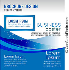 Diseño de concepto de fondo para el folleto