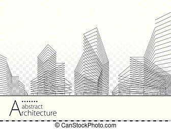 Diseño de construcción abstracto de arquitectura