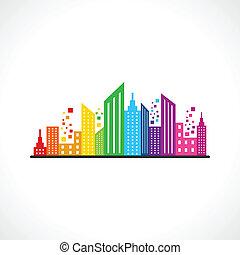 Diseño de construcción abstracto y colorido