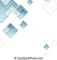 Diseño de cuadrados geométricos cuadrados azules