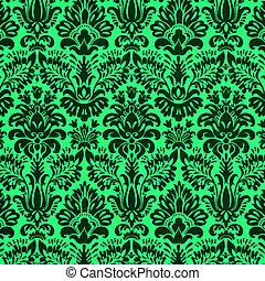 Diseño de Damasco en verde