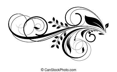 Diseño de decoración floral Swirl